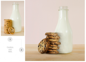 Cookies and Milk Bottle Imagery Manipulation for Print Ad