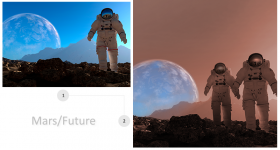 Mars/Future Imagery Manipulation for Print Ad