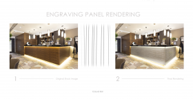 Bar Engraving Panel Rendering using Vector Contour Design