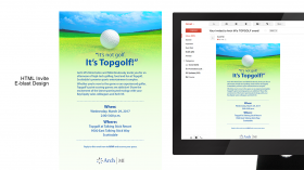 Arch MI Top Golf event, HTML Invite E-blast Design